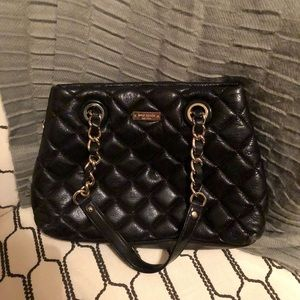 Kate Spade Gold Coast Maryanne Black Quilted Purse